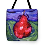 Pear Portrait Tote Bag