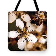 Pear Tree Blossoms Tote Bag