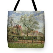 Pear Trees And Flowers At Eragny Tote Bag by Camille Pissarro