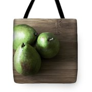 Pear Trio Muted Tote Bag