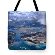 Pearl Harbor Aerial View Tote Bag