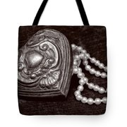 Pearls From The Heart - Sepia Tote Bag