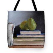 Pears And Books Tote Bag
