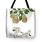 Pears And Pear Blossoms Tote Bag