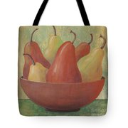Pears In Copper Bowl Tote Bag