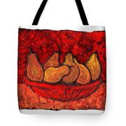 Pears On Fire Tote Bag