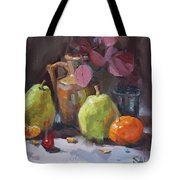 Pears With Eucalyptus Tote Bag