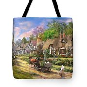Peasant Village Life Tote Bag