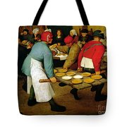 Peasant Wedding Tote Bag by Pieter the Elder Bruegel