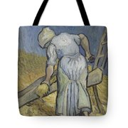 Peasant Woman Bruising Flax After Millet Saint Remy De Provence September 1889 Vincent Van Gogh  Tote Bag