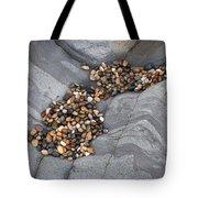 Pebble Beach Rocks 8787 Tote Bag