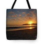 Pebble Beach Sunset Tote Bag