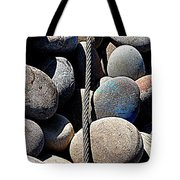Pebbles And Cable Tote Bag