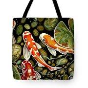 Pebbles And Koi Tote Bag