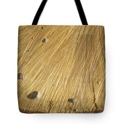 Pebbles And Texture On A Crosscut Log Tote Bag