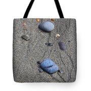 Pebbles Of Blue Tote Bag