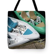 Pedal Boats Tote Bag