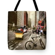 Peddle It Manhattan Tote Bag