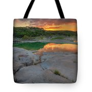 Pedernales River Sunrise, Texas Hill Country 8257 Tote Bag