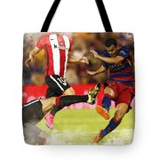 Pedro Rodriguez Kicks The Ball  Tote Bag