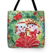 Peek-a-boo Christmas Tote Bag