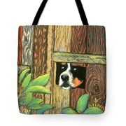 Peek-a-boo Fence Tote Bag