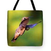 Peek-a-boo Hummingbird Tote Bag