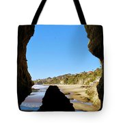 Peeking From Coastal Cave Tote Bag