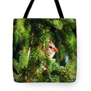 Peeking From The Pines Tote Bag