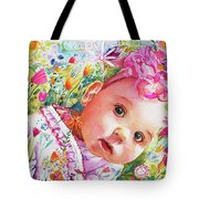 Peeking 'round The Corner Tote Bag