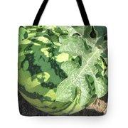 Peeking Watermelon Tote Bag