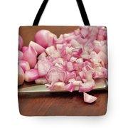 Peeled And Chopped Shallots Tote Bag