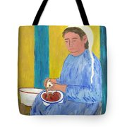 Peeling Apples Tote Bag