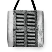 Peeling Shutters Black And White Tote Bag