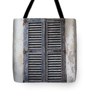 Peeling Shutters Tote Bag
