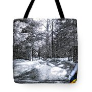Peeling Winter Away Tote Bag