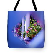 Peeping Trough The Fence Tote Bag
