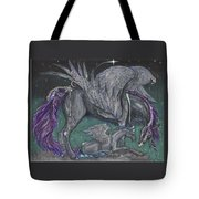 Pegasus Mare And Foal Tote Bag