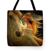 Pegasus Or Angel Tote Bag by Harry Warrick