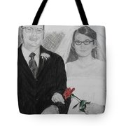 Peggy And John Taylor Wedding Portrait Tote Bag