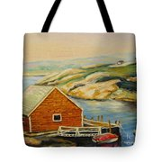 Peggys Cove  Harbor View Tote Bag