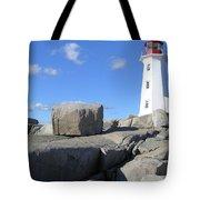 Peggys Cove Light House Tote Bag