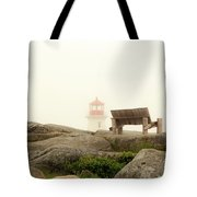 Peggy's Cove Lighthouse And The Banch Tote Bag
