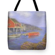 Peggy's Cove Lobster Pots Tote Bag