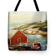 Peggys Cove Nova Scotia Landmark Tote Bag