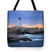 Peggy's Point Lighthouse, Nova Scotia, Canada Tote Bag