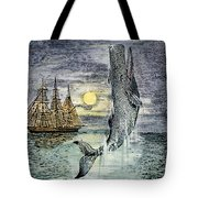 Pehe Nu-e: Moby Dick Tote Bag