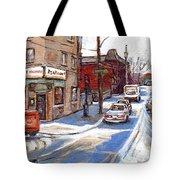 Peintures De Montreal Paintings Petits Formats A Vendre Restaurant Machiavelli Best Original Art   Tote Bag