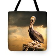 Pelican After A Storm Tote Bag
