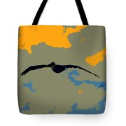 Pelican And Airplane Tote Bag